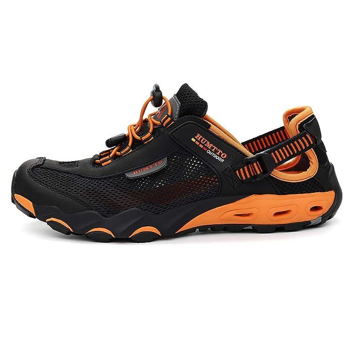 3bdb543db8563 HUMTTO Mens Sport Strap Sandals-Hiking Canyoning aquatc Amphibious Sandal  Fishing Beach Shoes