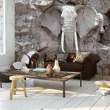 Decomonkey | Fototapete Steinwand Steine 400x280 Cm XXL | Design Tapete |  Fototapeten | Vlies Tapeten