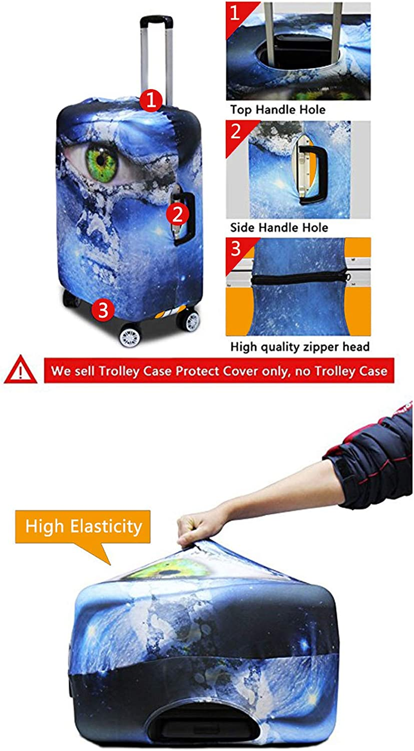 Showudesigns Cat Protective Travel Suitcase Cover for 23//25//27 inch Trolley Luggage
