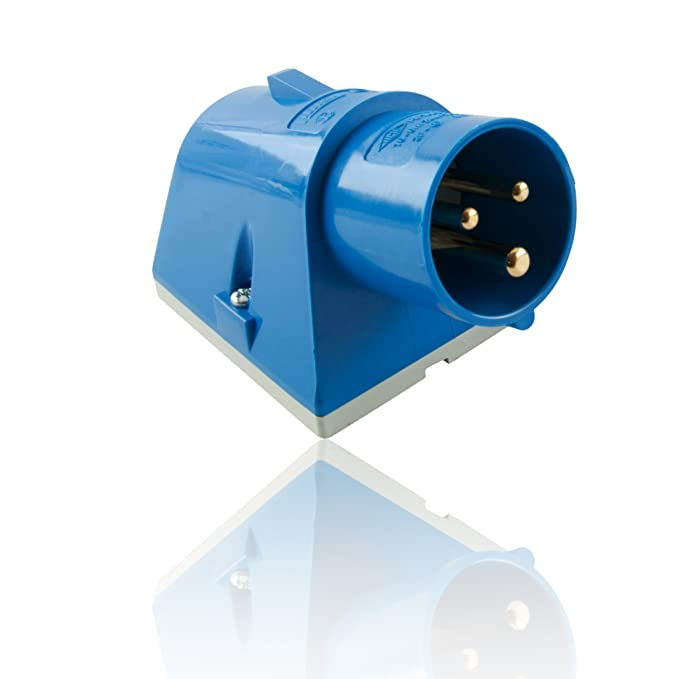 16A 3 Pin Male Plug for Tent//Motorhome//Caravan Hookup IEC 60309 309 IP449 2P+E 6h