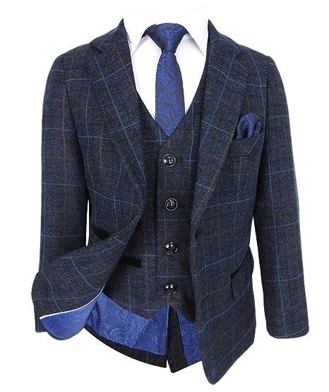 5e13dc0d3631 SIRRI Abiti Classici Firmati Tweed a Quadri retrò per Ragazzi  Amazon.it   Abbigliamento
