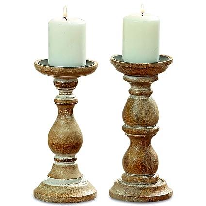 Amazon Com Whw Whole House Worlds Rustic Stockbridge Candle Holders