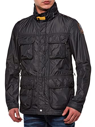 Parajumpers - Windbreaker Desert - Homme Antracit Taille X-Large 100% Polyester.