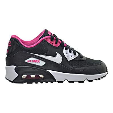 Nike Kids Air Max 90 Mesh GS, BLACKWHITE VIVID PINK, Youth Size 5.5