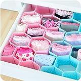 Rian's Online™ 8-Piece Honeycomb Drawer Clapboard Closet Divider Cabinet Cellular Partitions Underwear Organizer Cosmetic Plastic Storage Box