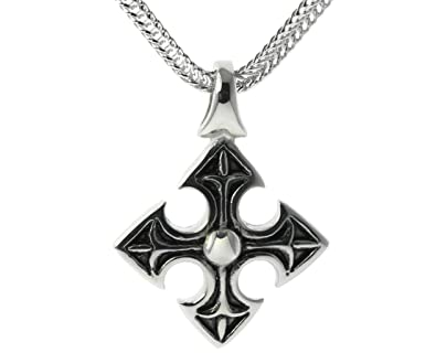 Amazon medieval celtic knights templar cross pendant 24 inch medieval celtic knights templar cross pendant 24 inch rope chain ip finish 316l stainless steel aloadofball Images