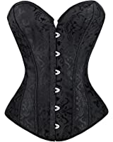 Kimring® Women's Vintage Palace Jacquard Body Shaper Strapless Overbust Corset
