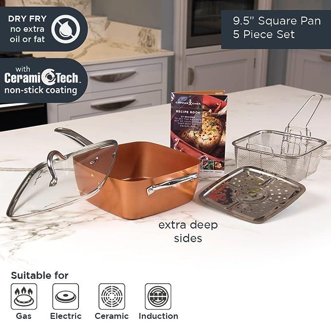 Copper Chef, Cobre, Cobre, 54 x 29.5 x 17.5 cm: Amazon.es: Hogar