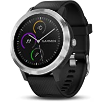 Garmin vivoactive 3 Stainless Steel GPS Smartwatch with Band (Black)