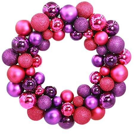 christmas ball wreath yoyoug best for door wall hanging christmas 55 balls wreath door wall - Christmas Ball Wreath