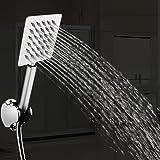 TAPCET ducha/alcachofa de la ducha Alcachofas fijas para ducha 304 acero inoxidable ,Ultra-delgado inyector de ducha per cuarto de baño 110*37*250mm plaza