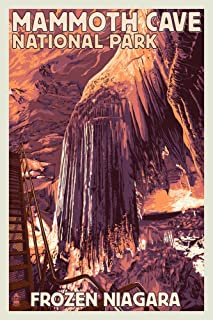 product image for Mammoth Cave, Kentucky, Letterpress 51943 (16x24 SIGNED Print Master Art Print, Wall Decor Poster)