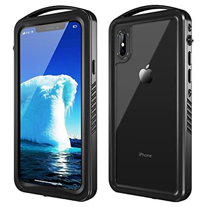lowest price 1abc8 fc52c SNOWFOX iPhone X/XS Waterproof Case, Full Body Rugged Underwater Case with  Built-in Screen Protector Shockproof Dirtproof Snowproof IP68 Certified for  ...