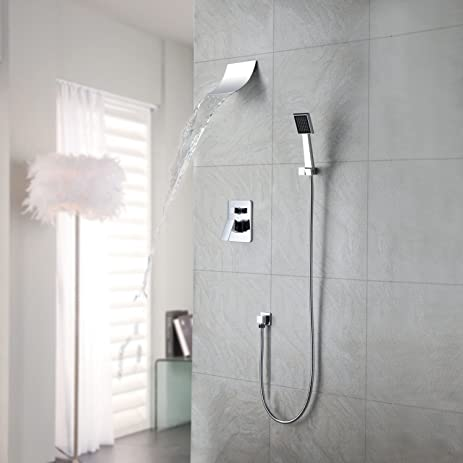 LightInTheBox Single Hanle Contemporary Waterfall Shower Faucet with ...