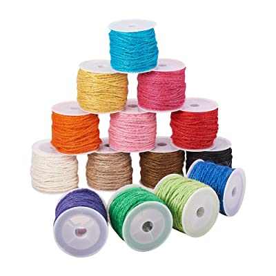 Pandahall 14-Color 2mm Jute Twine String Rope Hemp Rope Jute Cord Total 140 Yards for DIY and Crafts, Gift Wrapping: Home & Kitchen