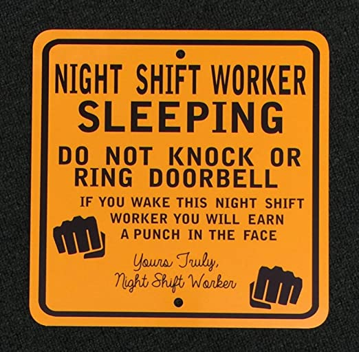 Amazon.com: Fhdang Decor Night Shift Worker - Señal de metal ...