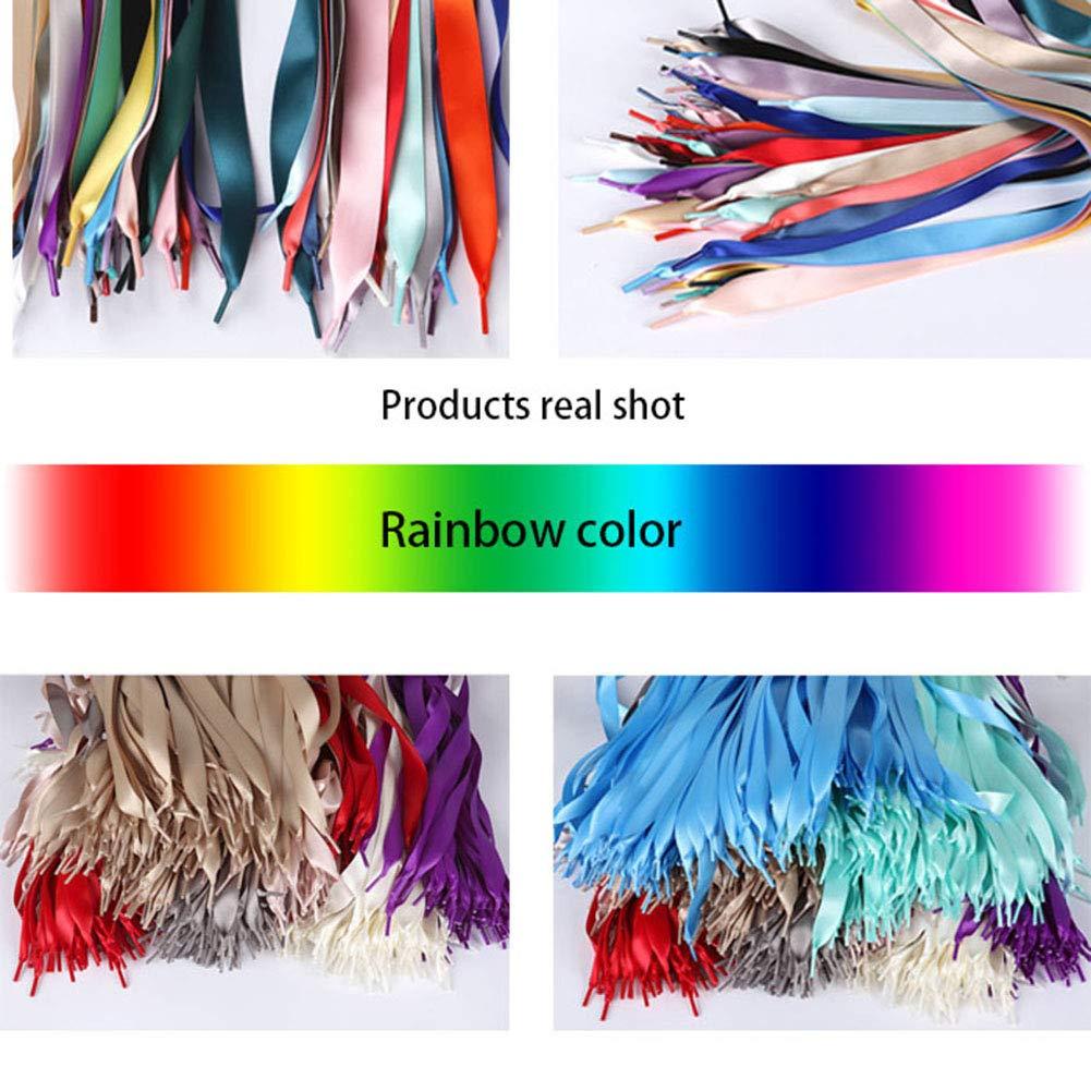 Cordones de cinta de sat/én de color OPUSS Cordones de poli/éster de doble cara ideales para calzado deportivo