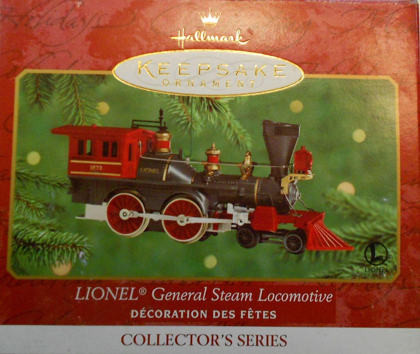 QX6684 Lionel General Steam Locomotive Lionel Trains 5th Hallmark Keepsake Ornament 2000