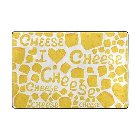 My Little Nest I Love Cheese Cartoon Children Area Rug 2u0027 X 3u0027 Lightweight