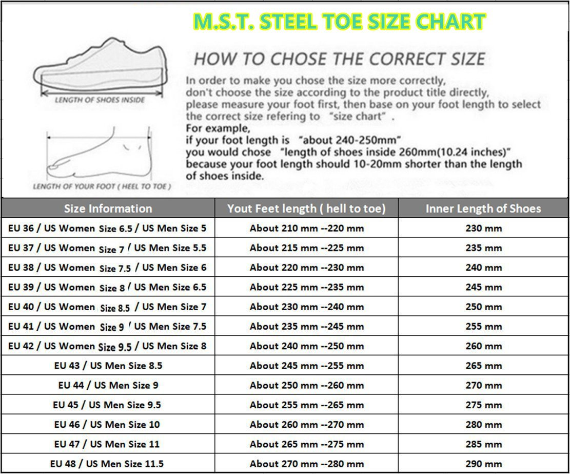 LIDUN Unisex Breathable Steel Toe Shoes Men Steel Toe Boots Womem Steel Toe Sneakers (US Men 9, LD01) by LIDUN (Image #7)