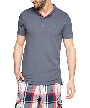 Esprit Piqué-Slim Fit Polo, Grau (Medium Grey 035), XX-Large para ...