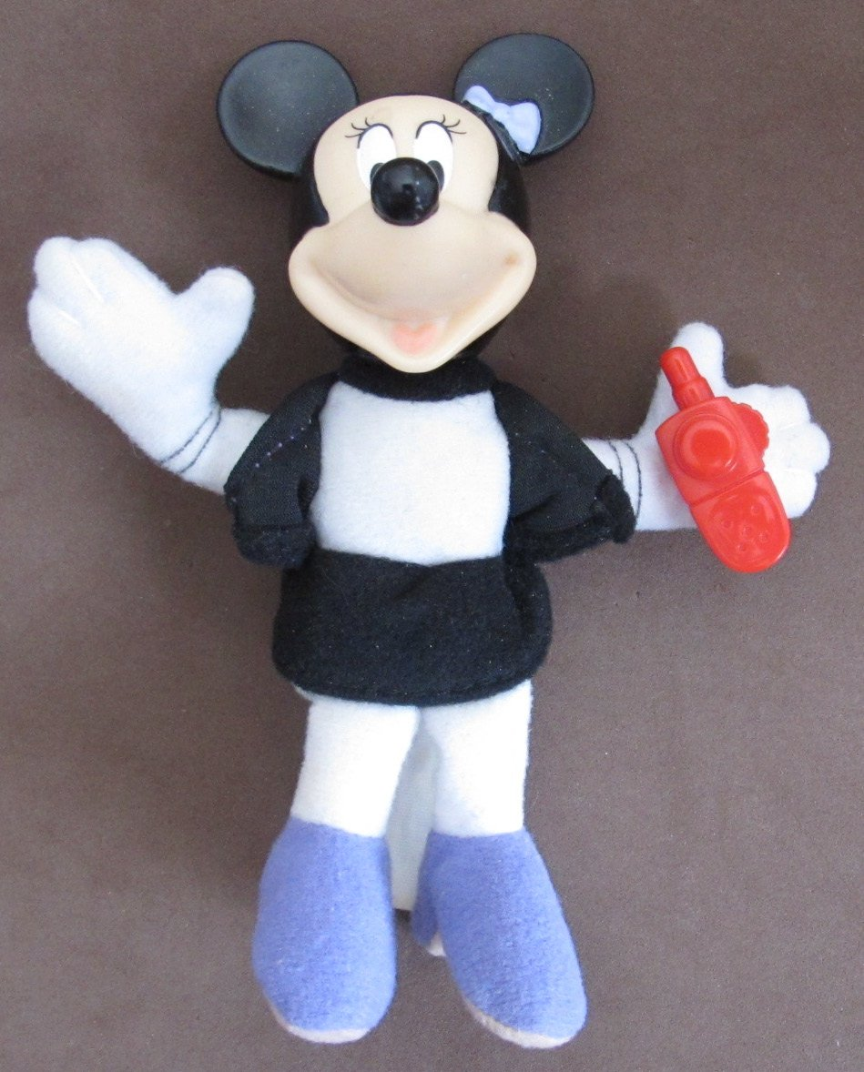 """Disney MICKEY House of Mouse MINNIE MOUSE FIGURE #5 w CELL PHONE 5"""" Tall (2001 McDonald's)"""