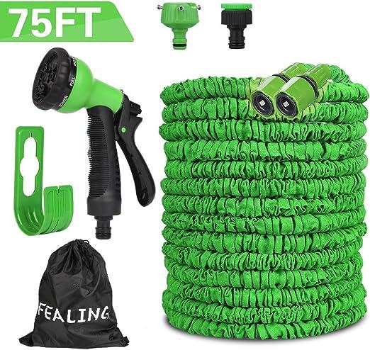 Manguera de Jardín Flexible, 75FT 22.5M Tubo de Manguera de Jardín Expansible, Manguera Jardin Flexi de 8 Funciones, Ducha de Manguera de Jardín para el Lavado de Automóviles, Riego de Jardines: Amazon.es: