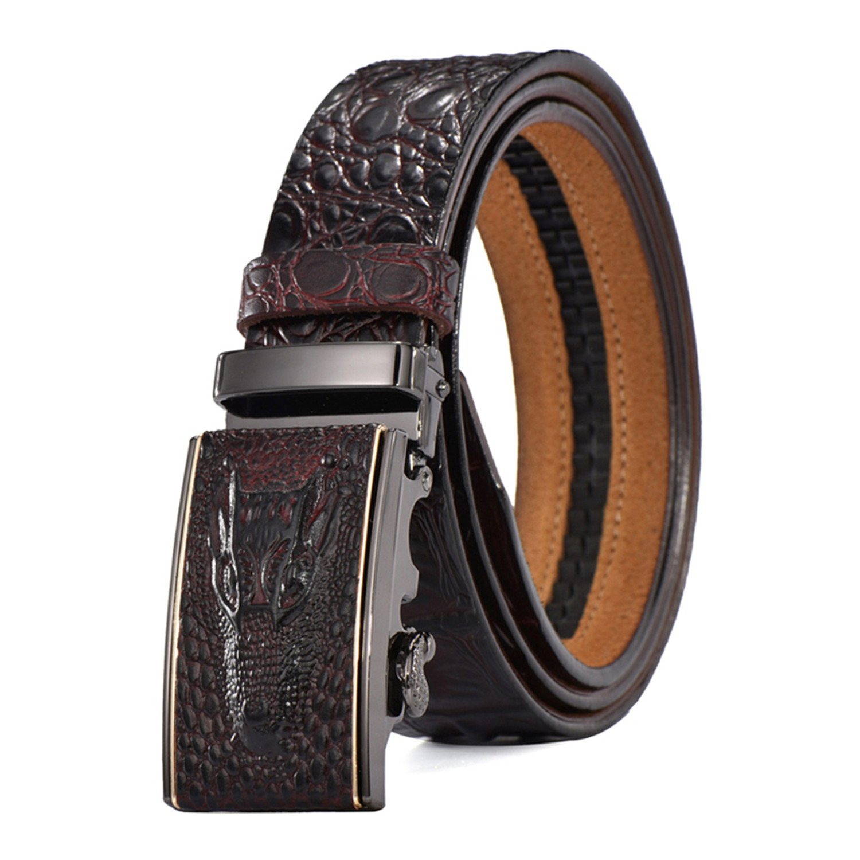 Thadensama Belts Men Male Genuine Leather Strap Waist Crocodile Luxury Famous Wedding Homme