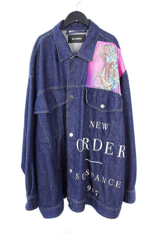 (ラフシモンズ) RAF SIMONS 【18SS】【Oversized Printed Denim Jacket】オーバーサイズドデニムジャケット(S/インディゴ) 中古 B07FZ2SL1Z