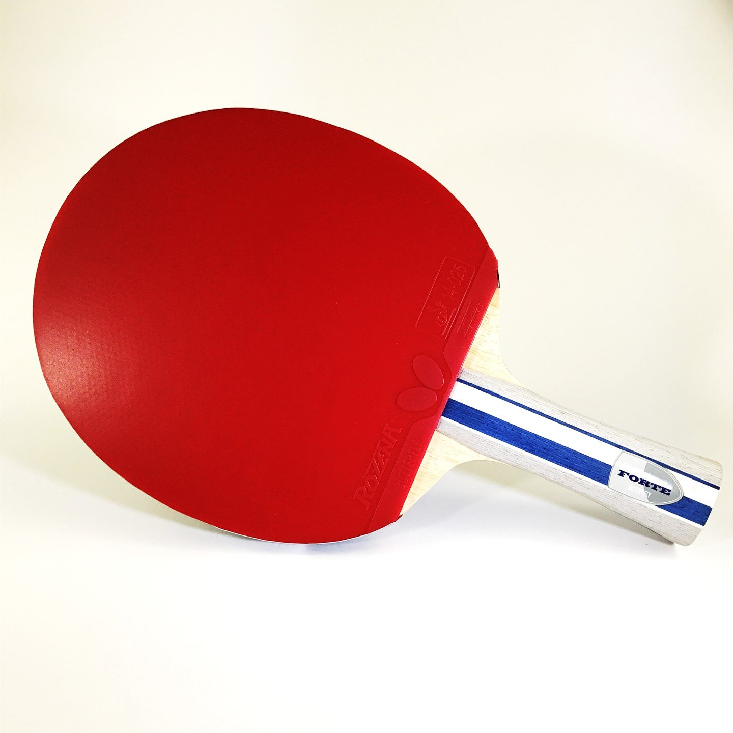 Butterfly Boll Forte Blade with Rozena 2.1mm Rubbers Pro-Line Table Tennis Racket – Professional Ping Pong Paddle