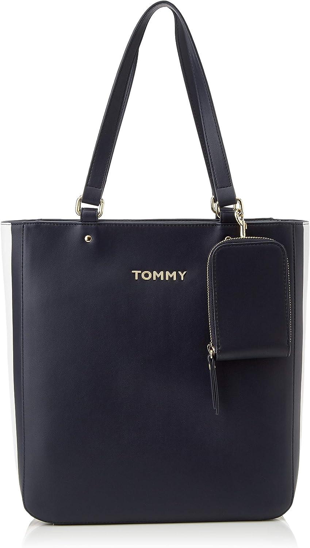 Tommy Hilfiger Donna Borsa Shopper TH Corporate BLU Mod. AW0AW07692