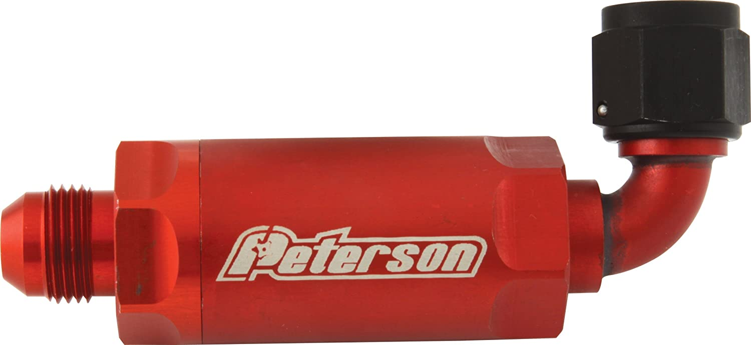 Peterson Fluid Systems 09 0406 8an 90 Degree In Line Fuel Filters Scavenge Filter Automotive