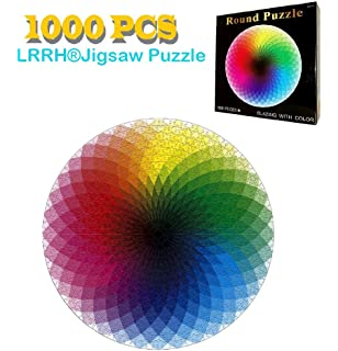 Amazon beverly micro pure white hell jigsaw puzzle 1000 piece lrrh 1000 pcs rainbow palette jigsaw puzzle intellectual game for adults and kids ccuart Gallery
