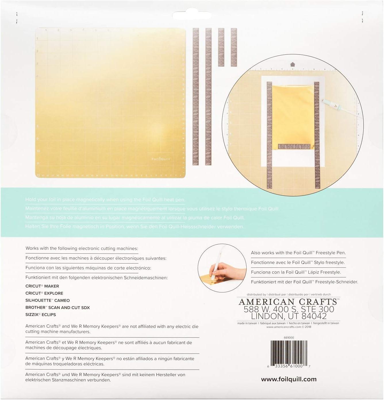 Tapete magnético de papel de aluminio para Silhouette Cameo, Cricut & Brother, imanes, So Fontsy Design Card de 12 x 12 pulgadas: Amazon.es: Juguetes y juegos