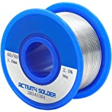 TiGree Solder 60/40 Rosin Core Flux Solder Wire Tin Lead Reel for Soldering, 0.039'' 50g