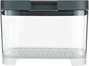 Rubbermaid 2031845 FreshWorks Countertop Food Storage Produce Saver, Single, Clear/Grey