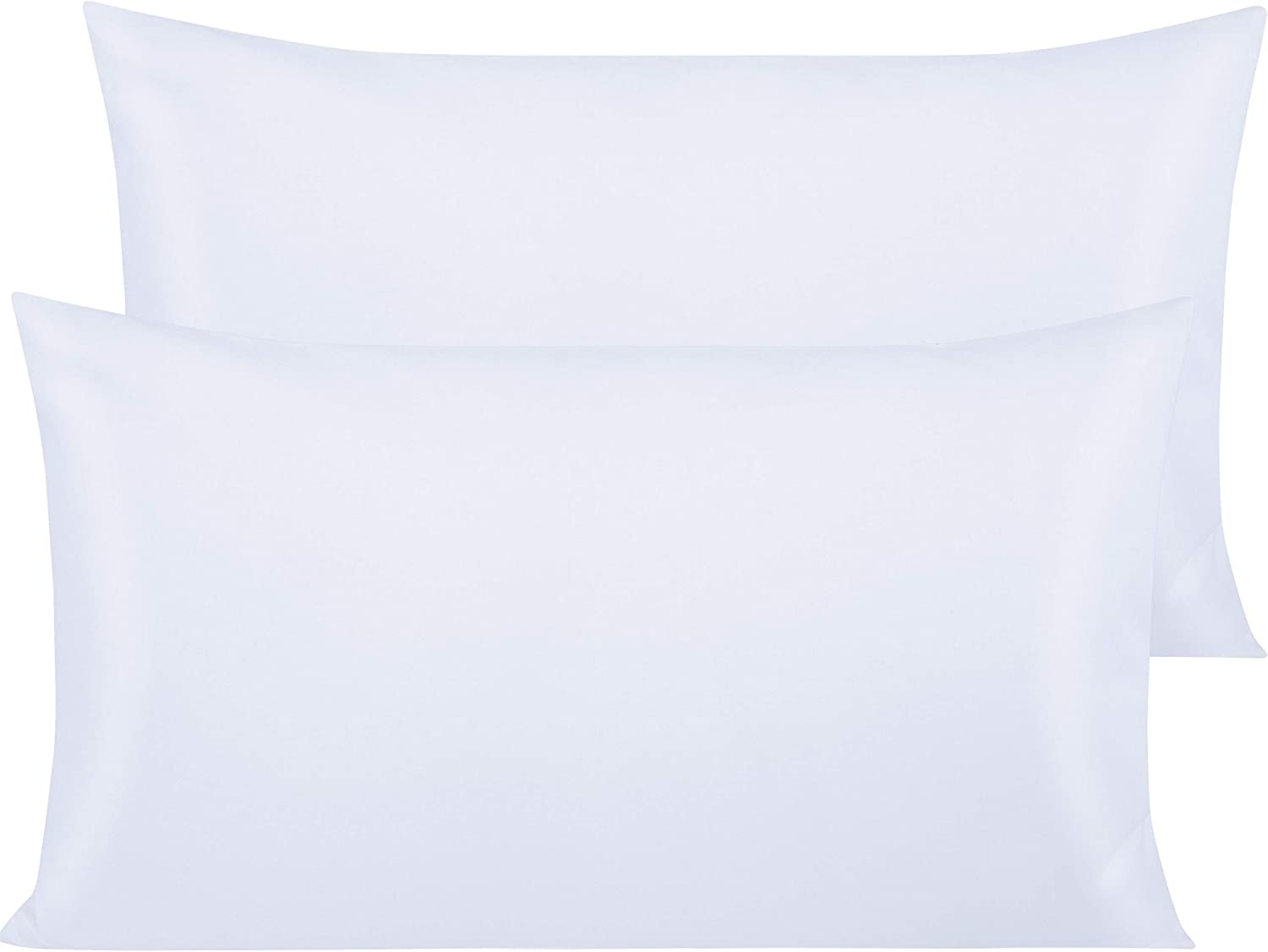 NTBAY 500 Thread Count Cotton King Pillowcases, Super Soft and Breathable Envelope Closure Pillow Cases, 20 x 36 Inches, White