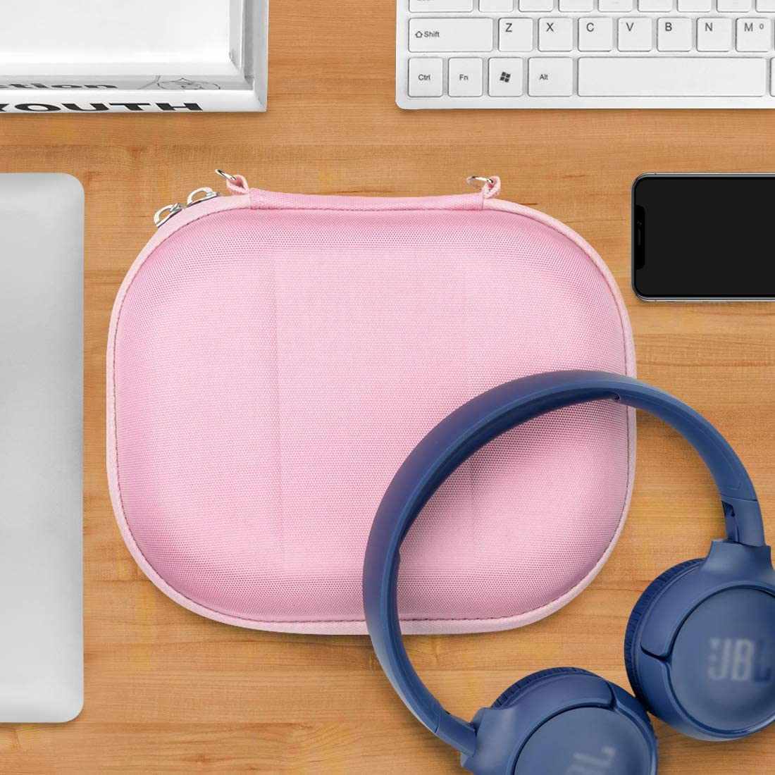 Tune 500BT T450BT Pink TUNE600BT Protective Hard Shell Travel Carrying Bag with Room for Parts E45BT Headphones Live 400BT T500BT On-Ear Geekria UltraShell Headphone Case for JBL T600BTNC