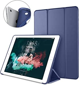 DTTO iPad Air 1st Edition Case, (NOT for iPad Air 2 and Air 3) Ultra Slim Lightweight Smart Trifold Stand with Flexible Soft TPU Back Cover [Auto Sleep/Wake], Navy Blue