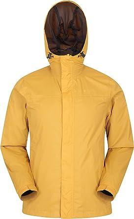 Mountain Warehouse Chaqueta Torrent para Hombre - Chubasquero, Abrigo Ligero, Ropa de Abrigo con Costuras termoselladas, Chaqueta Informal con Dos Bolsillos -para Viajar