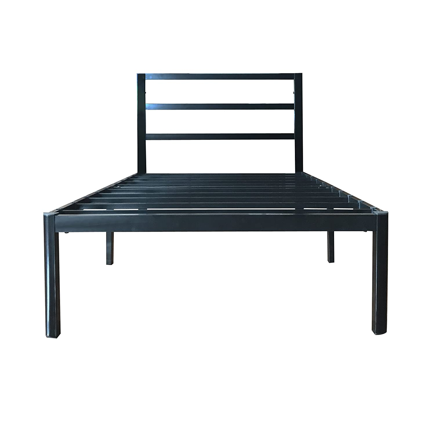 EG EAGOLE 14 Tall Metal Slat 3S Bed Frame Platform Bed, No Box Spring Needed , Twin