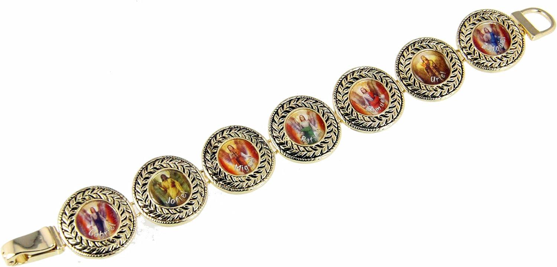 Christian Bracelets 4030963 7 Angels Bracelet Saints Religious Old World Style Arch Angel