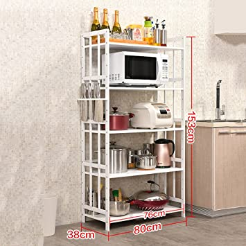 PENGFEI Estantes para Soportes Estantería Cocina Baldas Estante De Almacenamiento Multifunción Blanco Bambú, 1/2/3/4 Capa, 10 Estilos Especias y condimentos (Color : I): Amazon.es: Hogar