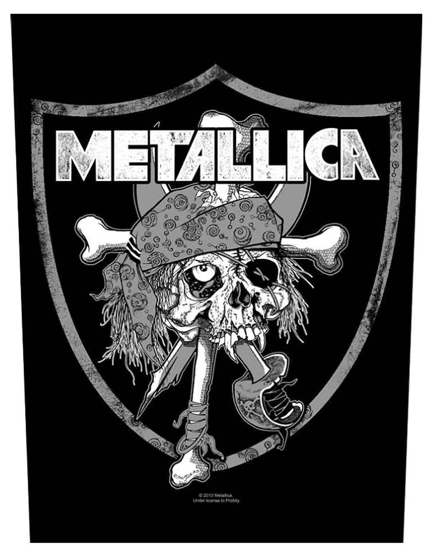 Metallica Backpatch Raider Skull officiel nouveau Noir Cotton Sew On 36cm x 29cm