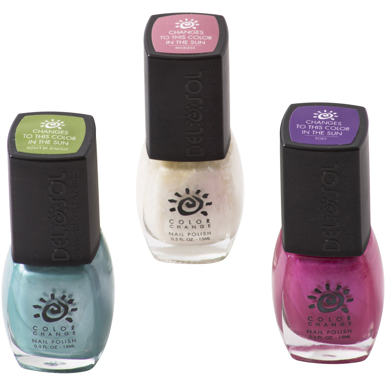 Amazon.com : Del Sol Color Changing Nail Polish: Pack of 3 High ...