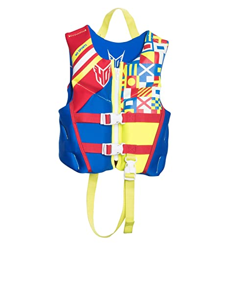 2ef11d653 Amazon.com : HO Sports 2019 Child Pursuit Neo Ski Wakeboard Wakesurf Vest  Jacket Blue/Red/Yellow : Sports & Outdoors