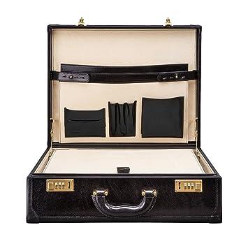 03ac7e9d71f9 Maxwell Scott® Personalised Traditional Classic Black Mens Attache  Case Business Briefcase (The Buroni