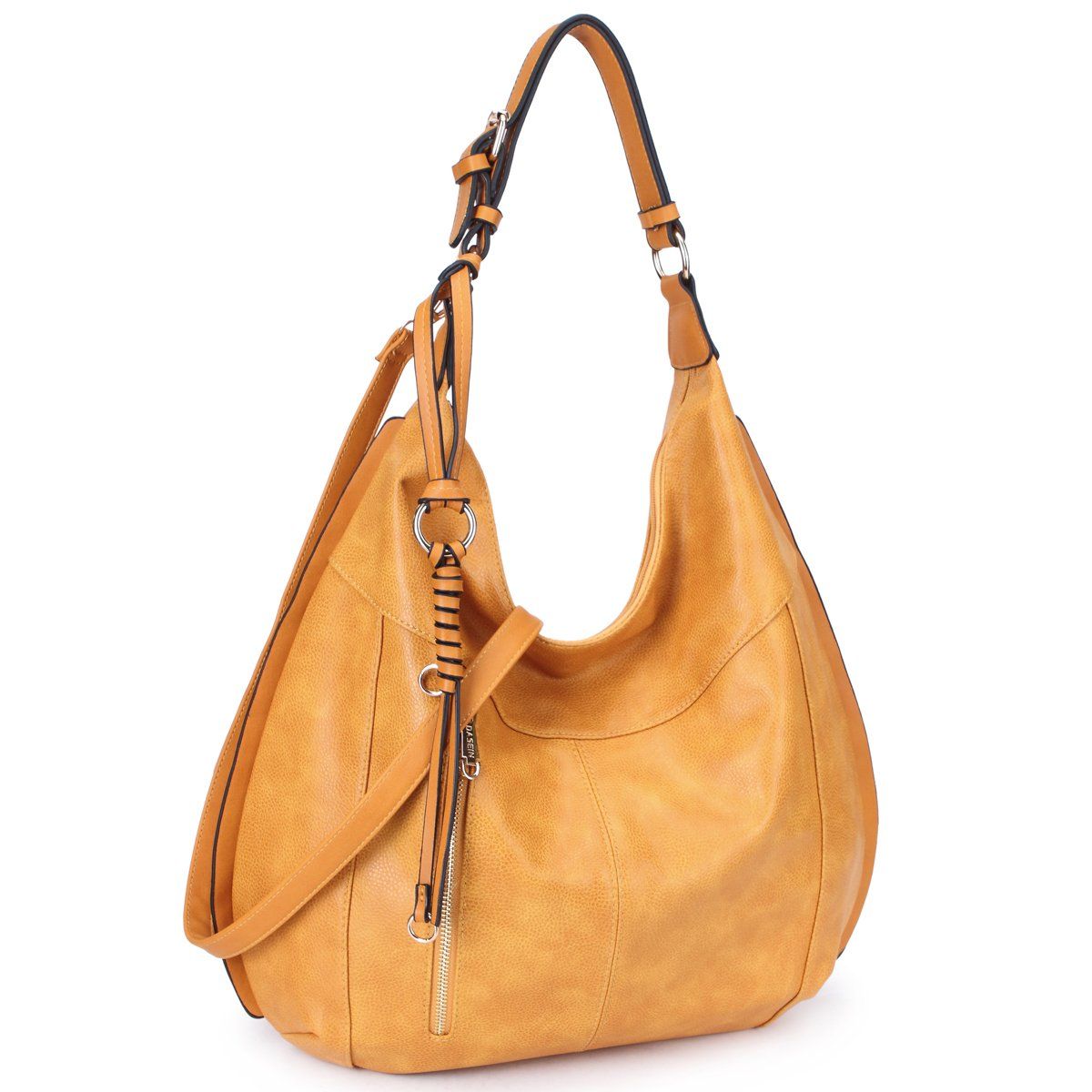 5821eade44 Dasein Womens Large Soft Hobo Bag Fashion Shoulder Bag Deisgner Purse  (Brown-1)  Amazon.ca  Shoes   Handbags