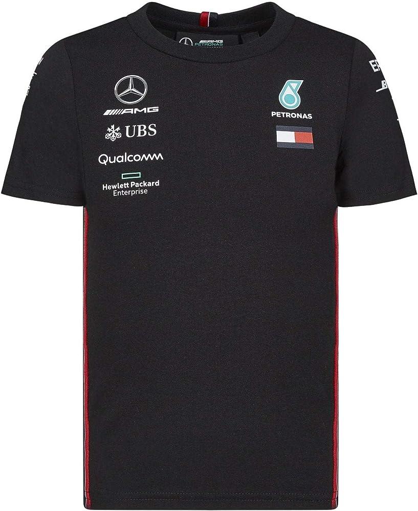 Mercedes-AMG Petronas Motorsport 2019 F1™ Camiseta del Equipo Negra niño (Black, 92): Amazon.es: Ropa y accesorios