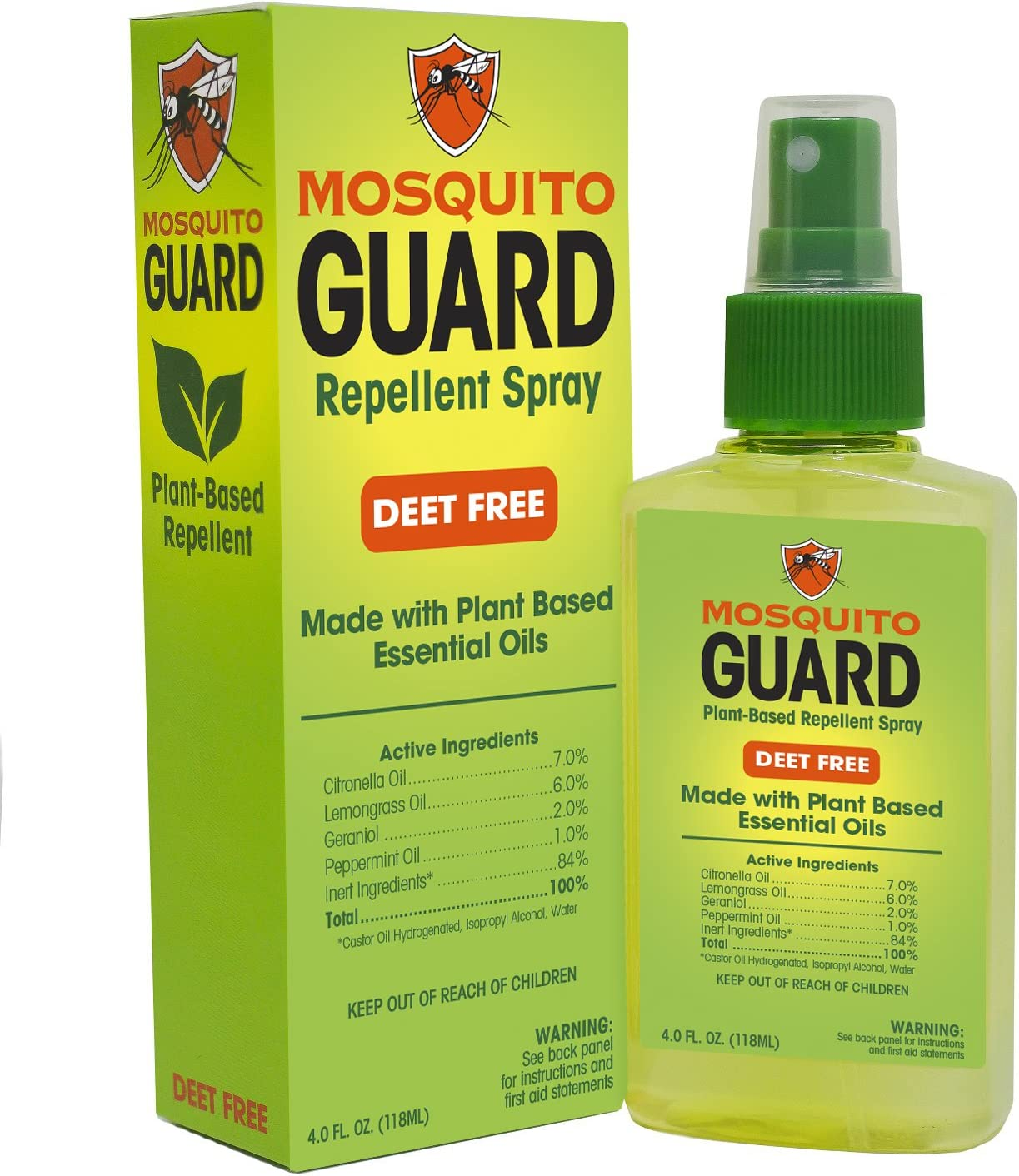Amazon Com Mosquito Guard Natural Repellent Spray Made With